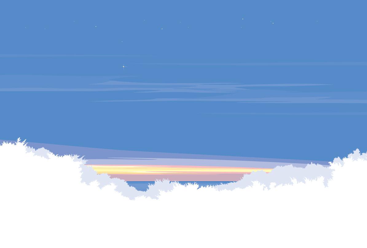 宍戸竜二の風景イラストレーション